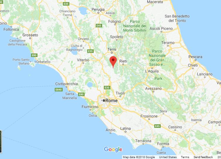 Casperia map
