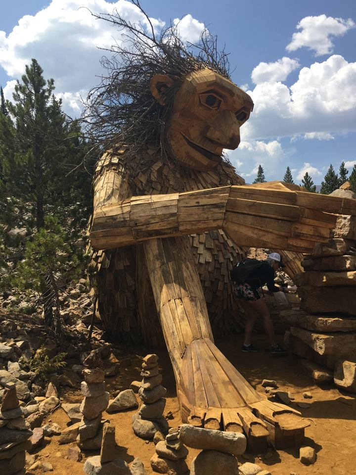 The troll of the Breckenridge Art Festival